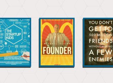 أفلام لرواد الأعمال, the social network ,the founder، ,the startup kids